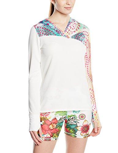 Desigual para mujer T-Shirt TS-FR Asimetric sudadera con capucha P Naranja Naranja Fresh Talla:small