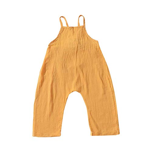 Hongyuangl Baby Mädchen Strampler Normallack Overall Outfits Neugeborenen Urlaub Strand Sommer Ärmellos Kleidung