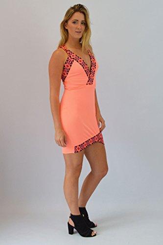 Vestito aderente arancione Corallo