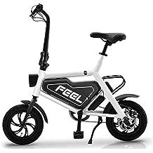 Bicicleta Eléctrica Plegable para Adultos De 12 Pulgadas, Batería De Litio De 36 V para