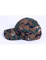 Camuflaje Velcro sombrero al aire libre simplicidad camuflaje del ejército gorro de sol sombrero del ejército al aire libre táctico Cap para pesca, caza y senderismo, Digital Jungle Camo