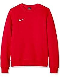 Nike Team Club a maniche lunghe, collo rotondo, Uomo, Felpa, Team Club Crew, University Red/University Red/White, M
