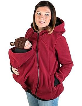 MissChild Donna Felpe del Portare Neonato Felpa per Maternità cappotto con cappuccio autunno e inverno Mommy Kangaroo...