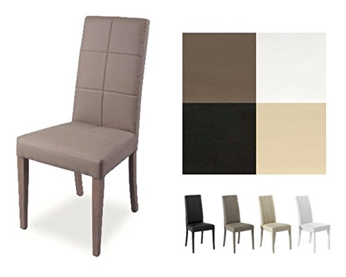 Zstyle sedia lory in ecopelle similpelle e legno cucina sala da pranzo design moderna (bianco)
