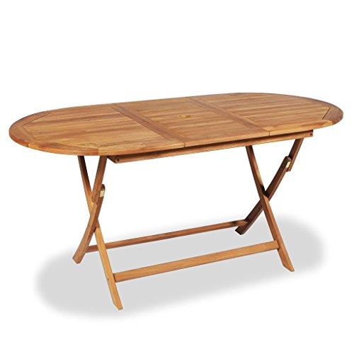 vidaXL Table de salle à manger d'extérieur en teck 160x80x75 cm