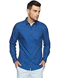 United Colors of Benetton Men's Solid Regular Fit Casual Shirt