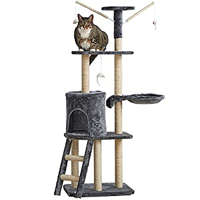 Milo & Misty Large 3 Platform Cat Tree Scratching Post Activity Centre