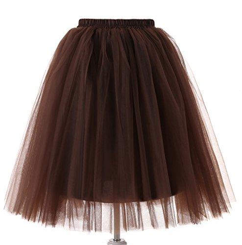 t Knielang Spout Petticoat kleid 50er jahre unterröcke kurz damen halloween kostüm damen (pd-6655-#31) (31 Jahre Halloween)