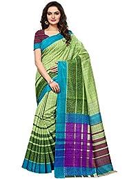 AKHILAM Women's Bhagalpuri Silk Saree with Unstitched Blouse Piece (Multi-Coloured_APHBUSP11905_P)