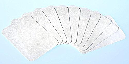 GKA 10 Stück Abschmink-Pads wiederverwendbar waschbar abschminken Abschminkpads Kosmetikpads Makeup Entferner Gesicht Augen Lippen