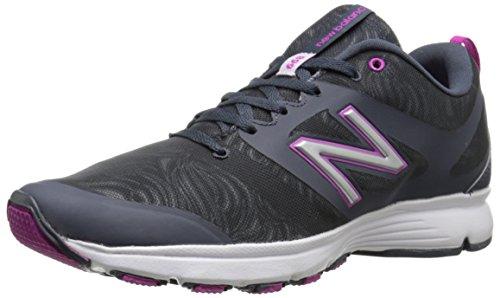 New Balance Women's WX668 Training Shoe, Dark Grey/Pink, 10 B US Dark Grey/Pink