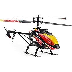 Pinjeer 2.4 GHz 4 Canales de una Sola hélice Helicóptero RC 70 cm Incorporado Gyro Juguetes Modelo de helicóptero RC con transmisor LCD Juguetes educativos Regalos de cumpleaños para niños de 14 +