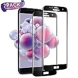SGIN Galaxy S7 Edge Panzerglas Schutzfolie, [2 Stück] Vollständige Abdeckung Curved Premium Gehärtetem Glas HD Displayschutzfolie für Samsung Galaxy S7 Edge, Einfache Installation - Schwarz