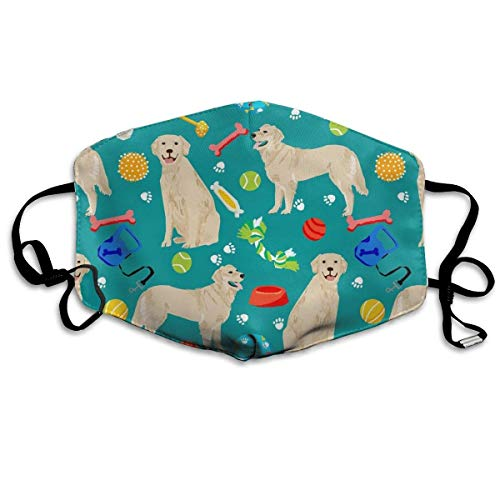 liulishuan Fun Golden Retrievers Ball Paw Borns Dust Mouth Mask,Cartoon PM2.5 Anti Dust Pollution Mask with Adjustable Straps Cotton Mouth Mask Fashion4 -