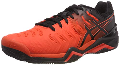 ASICS Herren Gel-Resolution 7 Clay Tennisschuhe Rot (Cherry Tomato/Black 801) 49 EU