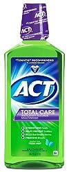 ACT Total Care Anticavity Fluoride Mouthwash Fresh Mint 33.8oz Each