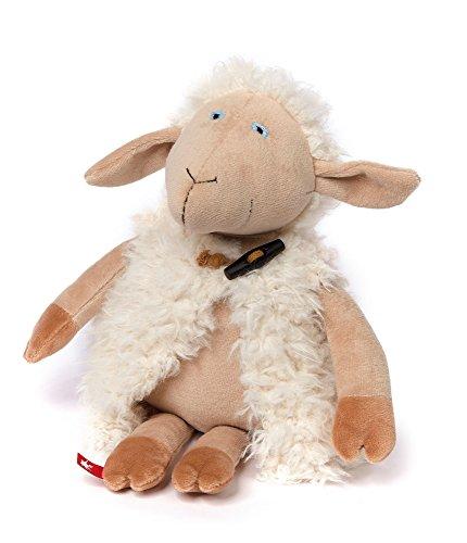 sigikid, Stofftier für Erwachsene und Kinder, Schaf Schlotter, Catwalk Pets, Weiß, 38777