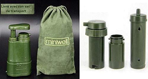 miniwell L610 Filter 3 Stück - Tragbare Wasserfilter Lifestraw