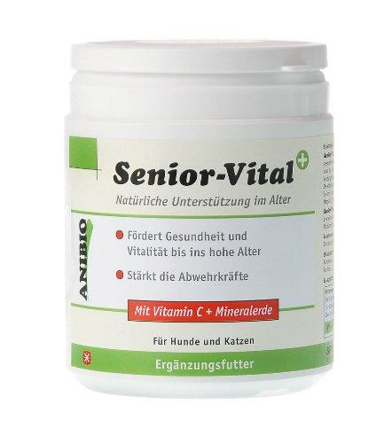 Anibio Senior-Vital + 500g (Pulver) Ergänzungsfutter für Hunde und Katzen, 1er Pack (1 x 0.5 kg)