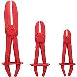 YuamMei - Juego de 3 pinzas de manguera flexible para tubería de combustible, rojo