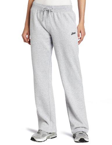 ASICS Damen Fleece Hose, Damen, grau meliert, X-Small - Asics Fleece