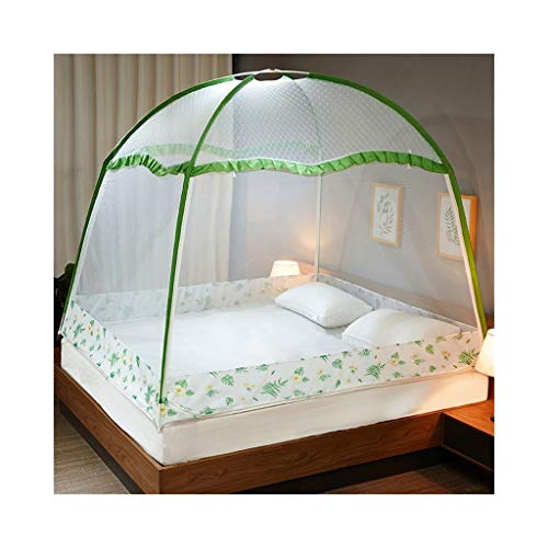 KMDB Bett Moskitonetz, dreitüriges Bett mit Reißverschluss und Fettverschlüsselung, Typ 1,2 m Bett