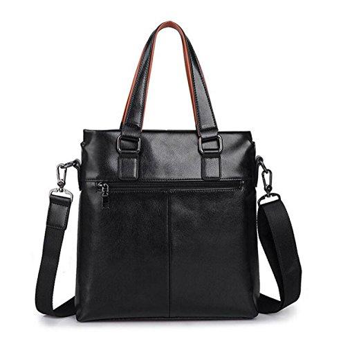 Borsa Tracolla Uomo Pacchetto Diagonale Sezione Verticale Di Business Laptop Bag Casuale Valigetta Maschile Black