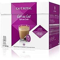 Café Royal Café au Lait Nouvelle Génération- 16 dosettes Compatibles avec le Système NESCAFE®* Dolce Gusto® -...