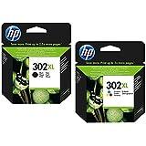 Cartouche d'encre d'imprimante d'origine HP F6U66AE HP 302 HP302 pour HP Deskjet 4650 Noir Capacité : env. 190 pages / 5% (10