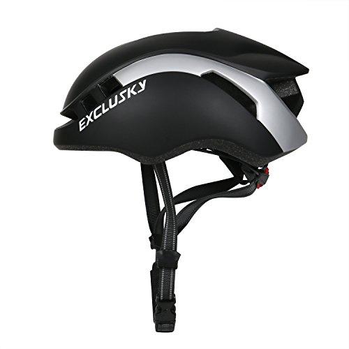 Exclusky Erwachsene Fahrradhelm 56/61cm (schwarz)