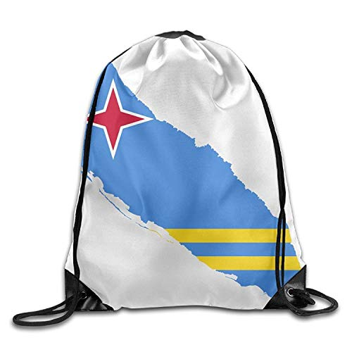 ZHIZIQIU Flag Map of Aruba Cute Gym Drawstring Bags Travel Backpack Tote School Rucksack Womens Aruba Sling