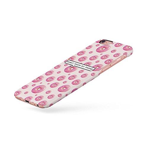 Donut Touch My Phone Sweet Pink Glazed Doughnuts Pattern Dünne Rückschale aus Hartplastik für iPhone 6 & iPhone 6s Handy Hülle Schutzhülle Slim Fit Case cover Pink Topings