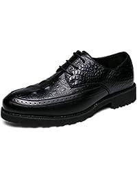 Oxford Personalidad Hombres Los Moda Cuero De Cocodrilo Bangxiu Costura Cómodos Patrón Zapatos qwgBYYS