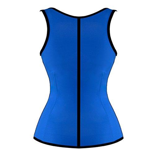 Damen Latex Unterbrust Taillen Korsett Figurformer Cincher Corsage Taillenmieder Blau