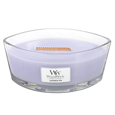 Hearthwick 16oz Flame Scented Candle - Lavender Spa - comfort of a glowing fireplace. Soothing crackle and long, dancing flame by Woodwick