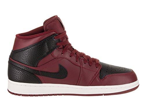 Nike Mens Air Jordan 1 Mid Scarpe Da Basket Nere