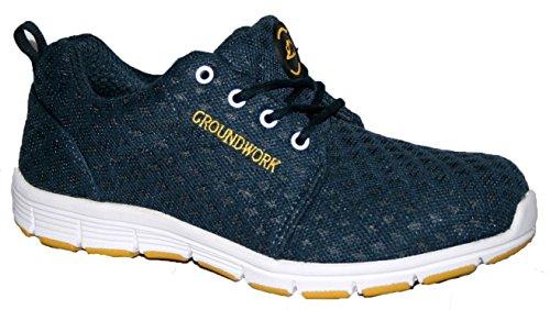 Groundwork , Chaussures de sécurité pour homme Bleu