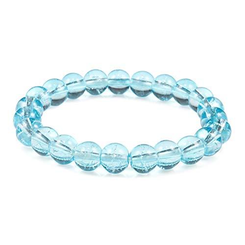 Imagen de pulseras charm natural stone crystal bead bracelet vintage 8mm round beads bracelets yoga prayer jewelry women best friend gift joyería