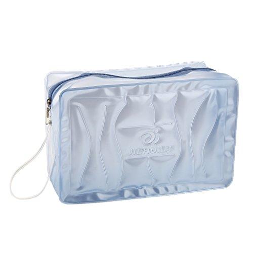 Sharplace Borsa Sacchetto Di Nuota Porta Costume Da Bagno Occhiali Shampoo Pvc Accesorio Sportivo - Rosa Blu