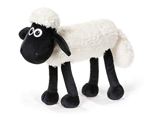 Nici 41484 Shaun das Schaf Kuscheltier mit biegbaren Gelenken stehend, 35 cm, Farbe: Weiß/Schwarz