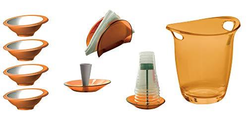 BUGATTI - Set von 8 StückPARTY - Orange