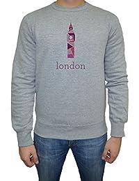 Big Ben London Hombre Sudadera Jersey Pullover Gris Todos Los Tamaños | Men's Sweatshirt Jumper Pullover Grey