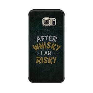 Mobicture After Whisky I Am Risky Designer Printed Hard Case Cover - [Hard Poly Carbonate] [Slim-fit] [Shock-Proof] Back Cover for Samsung S7
