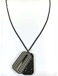 Genuine Original Hombres Swarovski borde colgante de acero inoxidable Crystal Rock 5070470