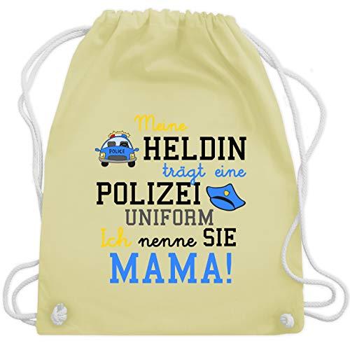 Sprüche Kind - Meine Heldin trägt eine Polizei Uniform Mama - Unisize - Pastell Gelb - WM110 - Turnbeutel & Gym Bag