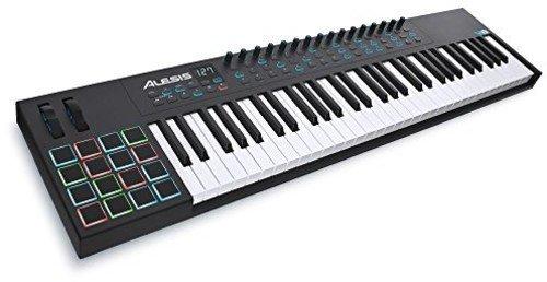 Alesis VI61 - Teclado controlador USB-MIDI avanzado de 61 teclas con 16 pads y 48 botones