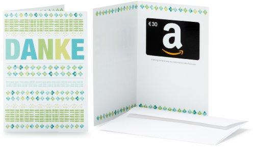 Amazon.de Geschenkkarte in Grußkarte - 30 EUR (Danke)