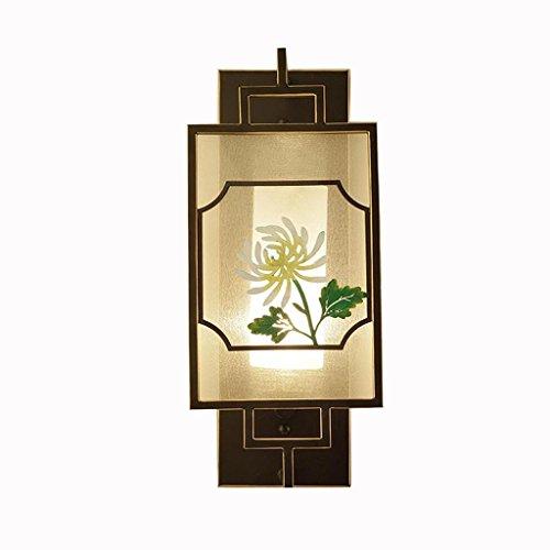 Appliques Style Chinois Lampe de Chevet éclairage créatif Chambre Salon allée Style Chinois Lampe Murale Style Chinois Lampe Murale UOMUN (Couleur : Chrysanthemum)