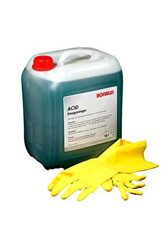 Bonalin Acid Essigreiniger 10 Liter kraftvoll gegen Kalk, Wasserflecken und Seifenreste