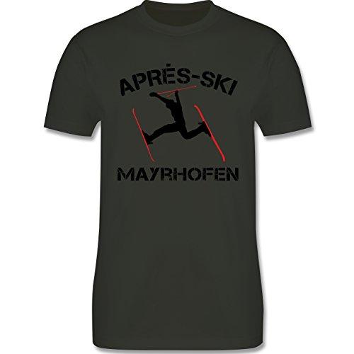 Après Ski - Apres Ski Mayrhofen - Herren Premium T-Shirt Army Grün